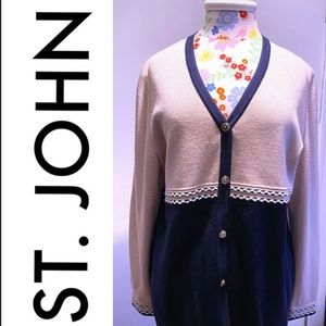 St. John Collection Button Down Cardigan
